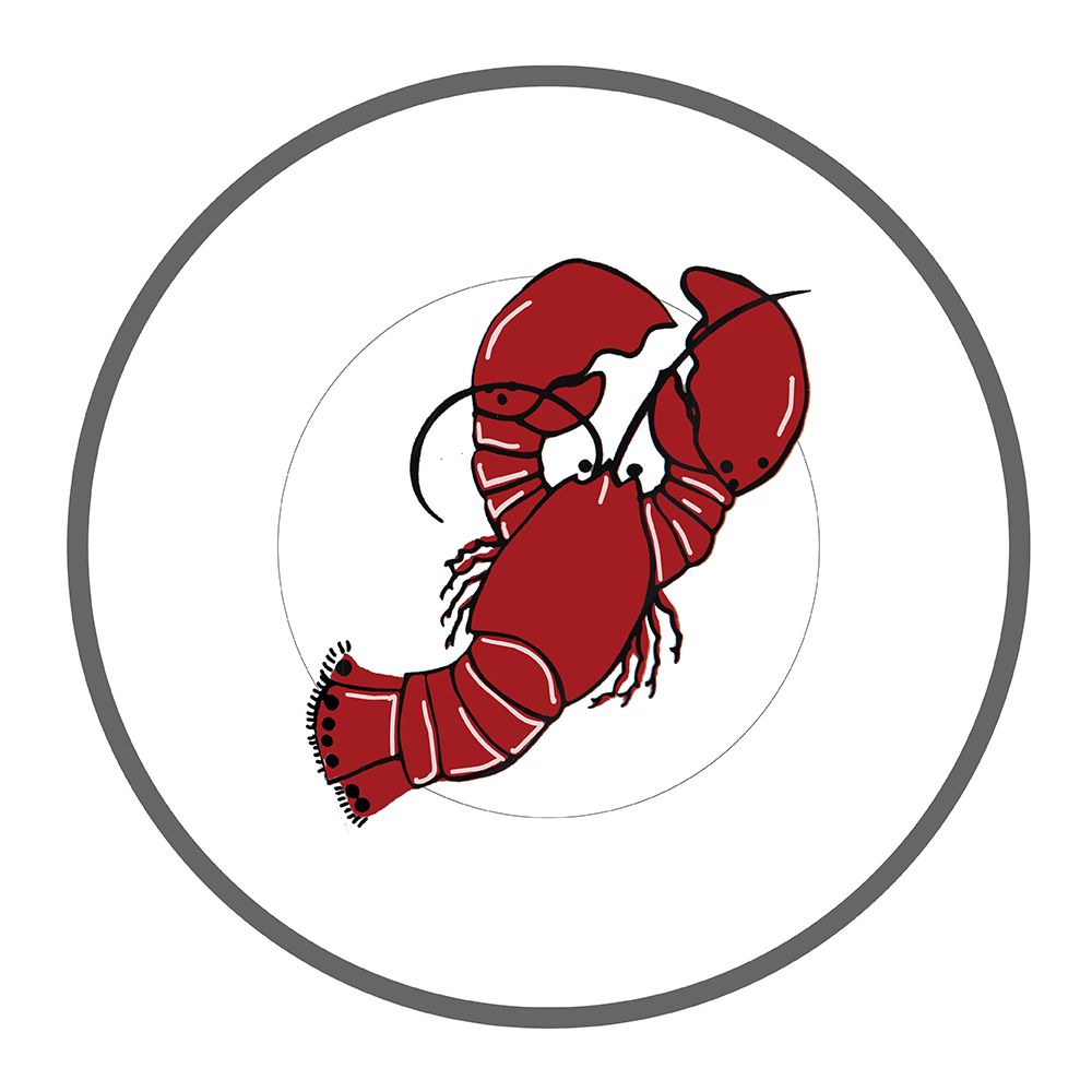 """7.5"""" Round Plate - Lobster"""