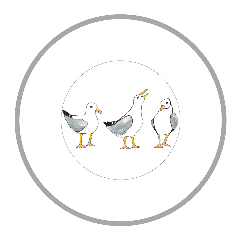"7.5"" Round Plate - Seagulls"