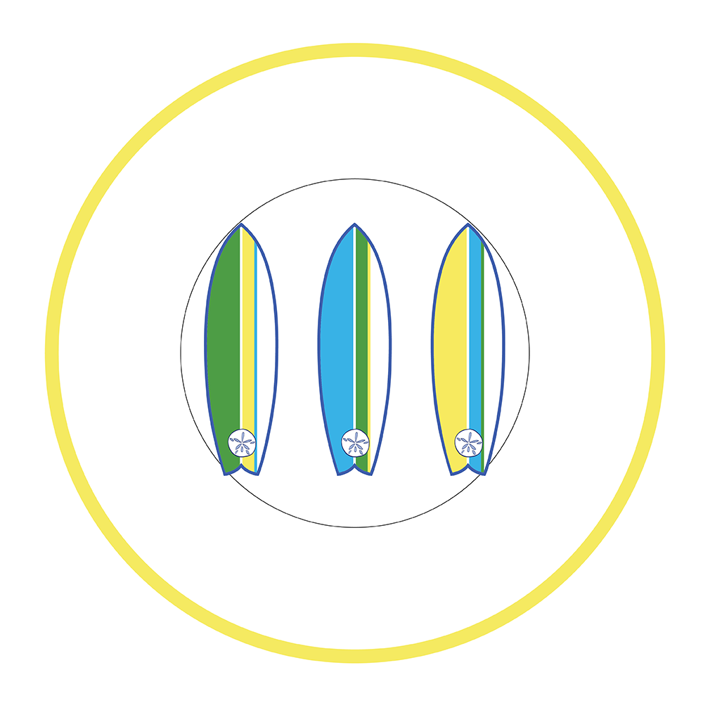"7.5"" Round Plate - Surfboard"