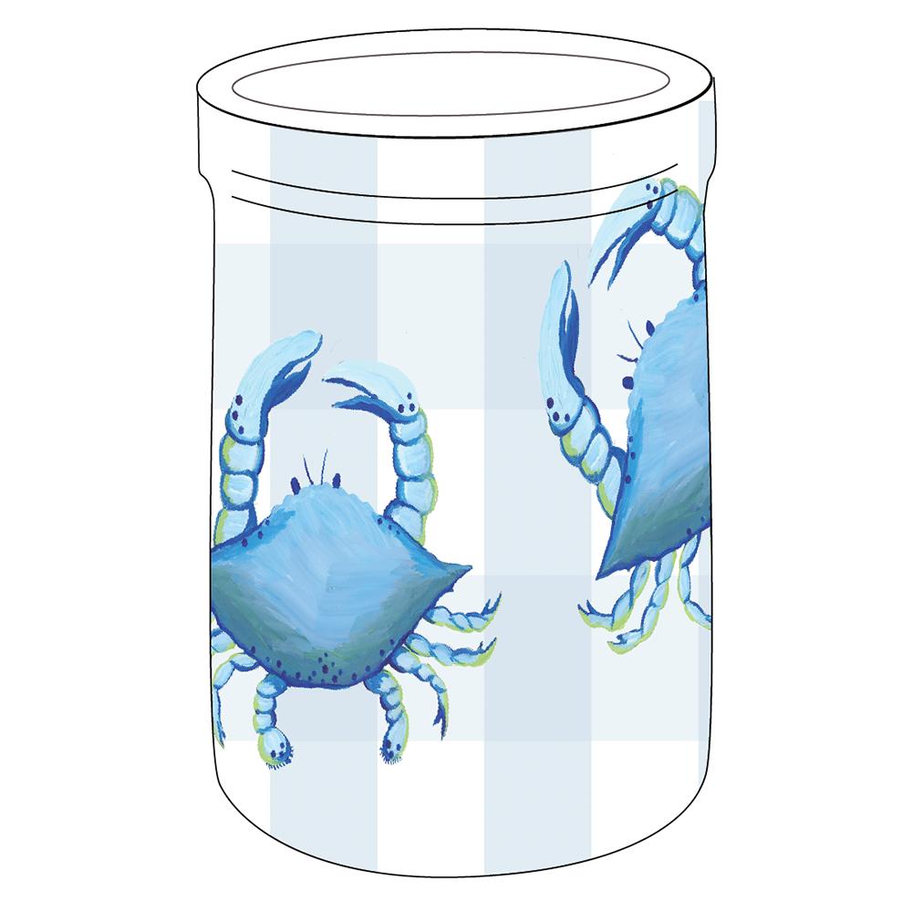 """8"""" Crock - Blue Crab"""