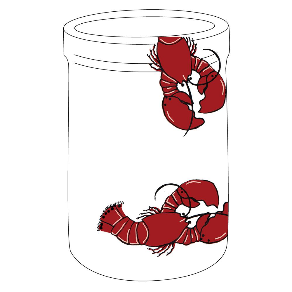 """8"""" Crock - Lobster"""
