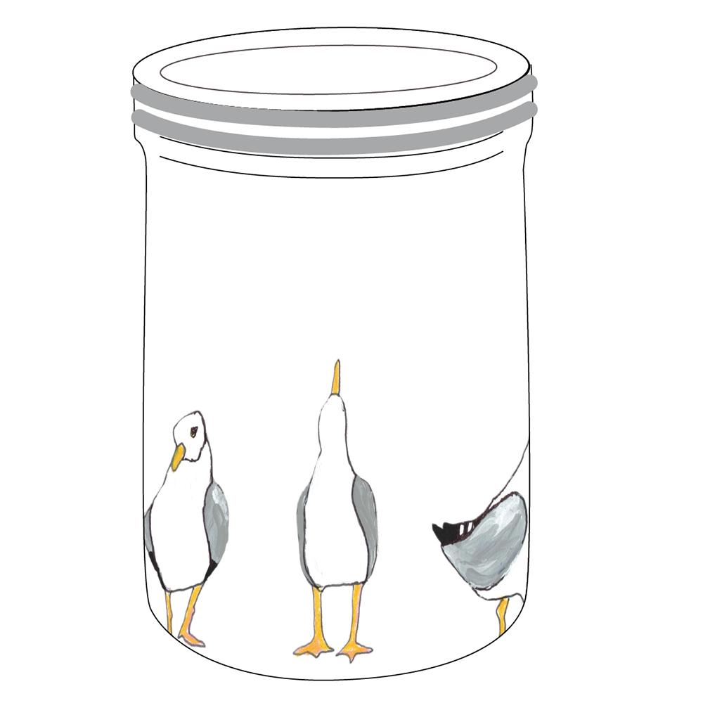 "8"" Crock - Seagulls"