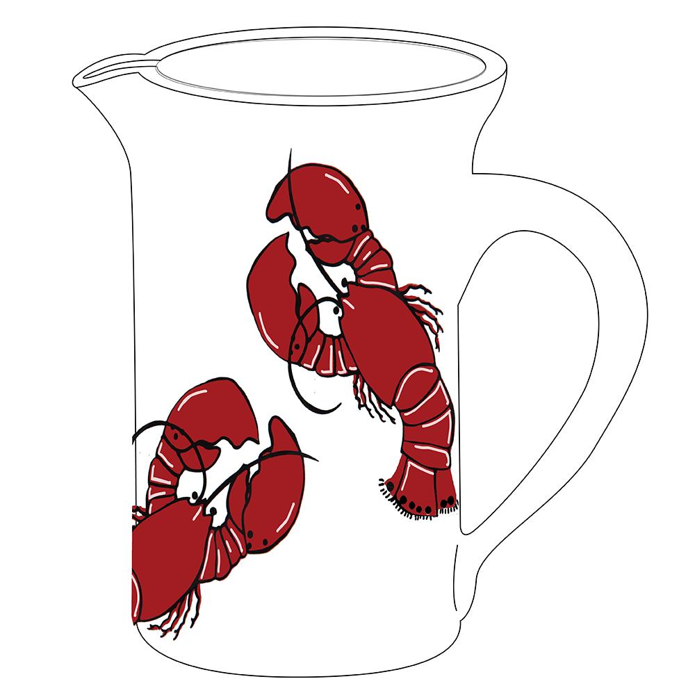 "8"" Pitcher - Lobster"