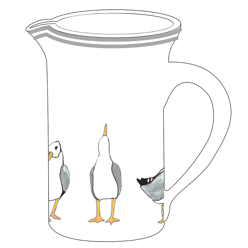"""8"""" Pitcher - Seagulls"""