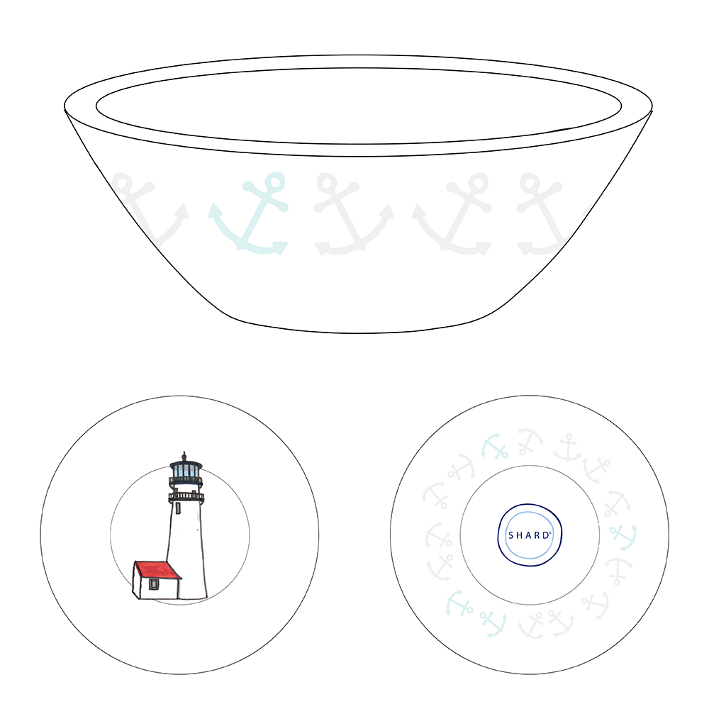 Tasting Bowl - Lighthouse Cape Cod