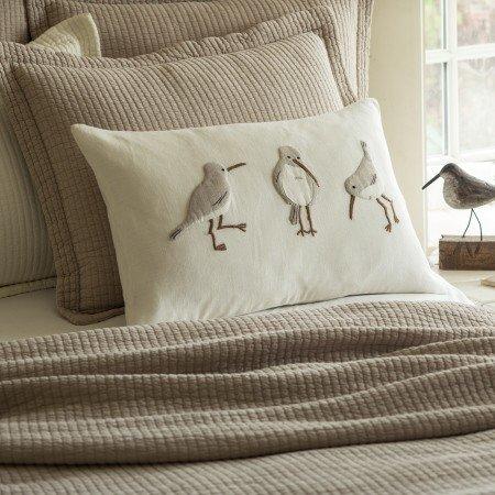Shore Birds Linen Pillow 16x24
