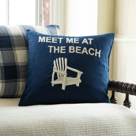 Meet Me at the Beach Pillow 20x20