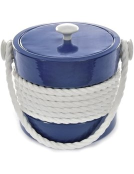 Blue Castillian 5 Qt Rope Ice Bucket