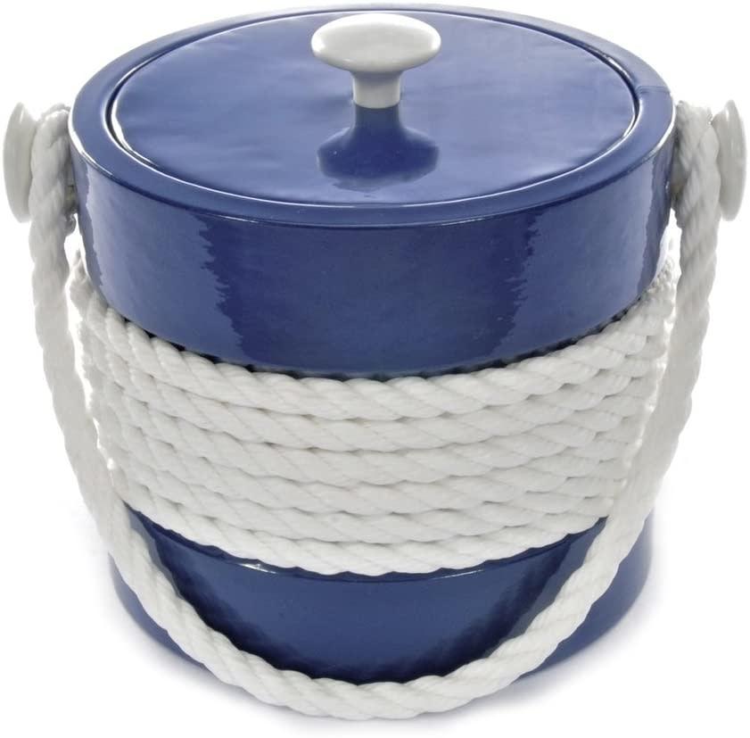 Blue Castillian 5 Qt Rope Ice Bucket