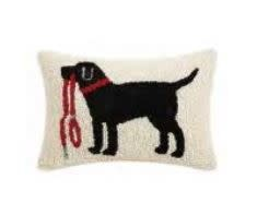 Lab Holding Leash HP Pillow 8x12