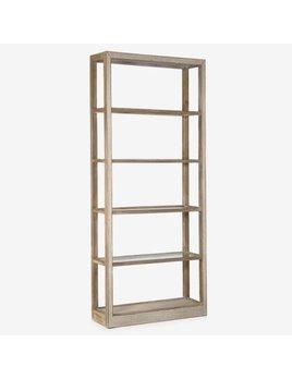 "87"" Wythe Wooden Bookshelf Brown"