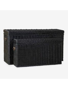 Winslow Woven Storage Console Black Small