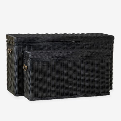 Winslow Woven Storage Console Black Small