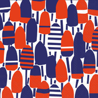 Red White and Buoy Lunch Napkin