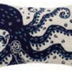 Navy Octopus 12x18 Hooked Pillow