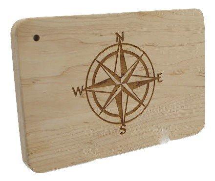 Compass Rose Cuting Board 9x6 RE