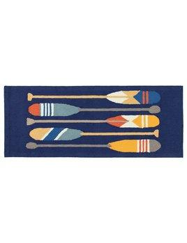 Paddles Navy Rug 24x60