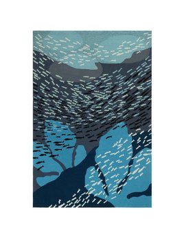 School of Fish Navy Rug 24x36