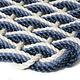 Small Oyster/Glacier Bay/Navy Triple Weave Doormat 18x30