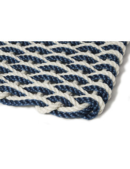 Large Oyster/Navy Doormat 21x34