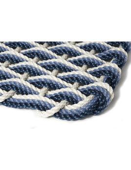 X-Large Oyster/Glacier Bay/Navy Triple Weave Doormat 24x38