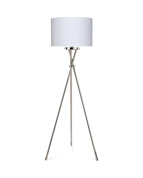 Manny Floor Lamp - Nickel