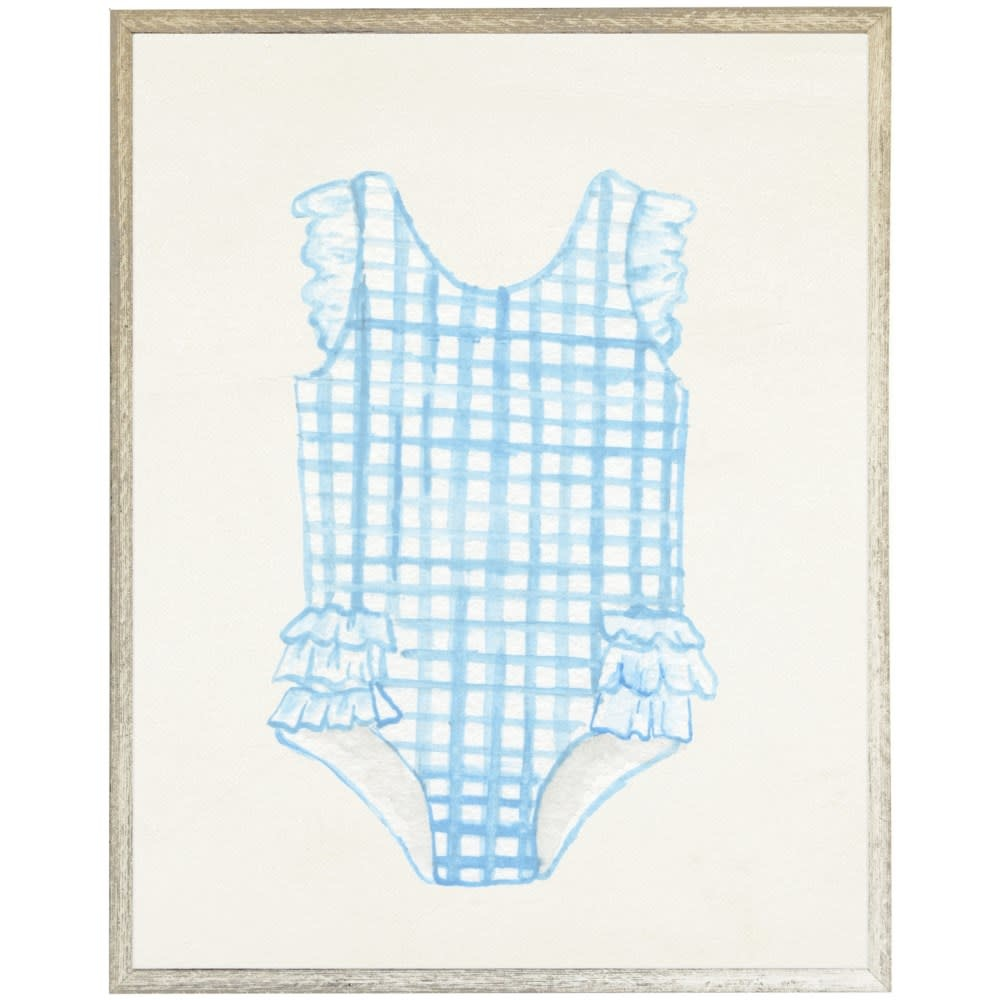 Kids Blue Striped Swimsuit 18x24