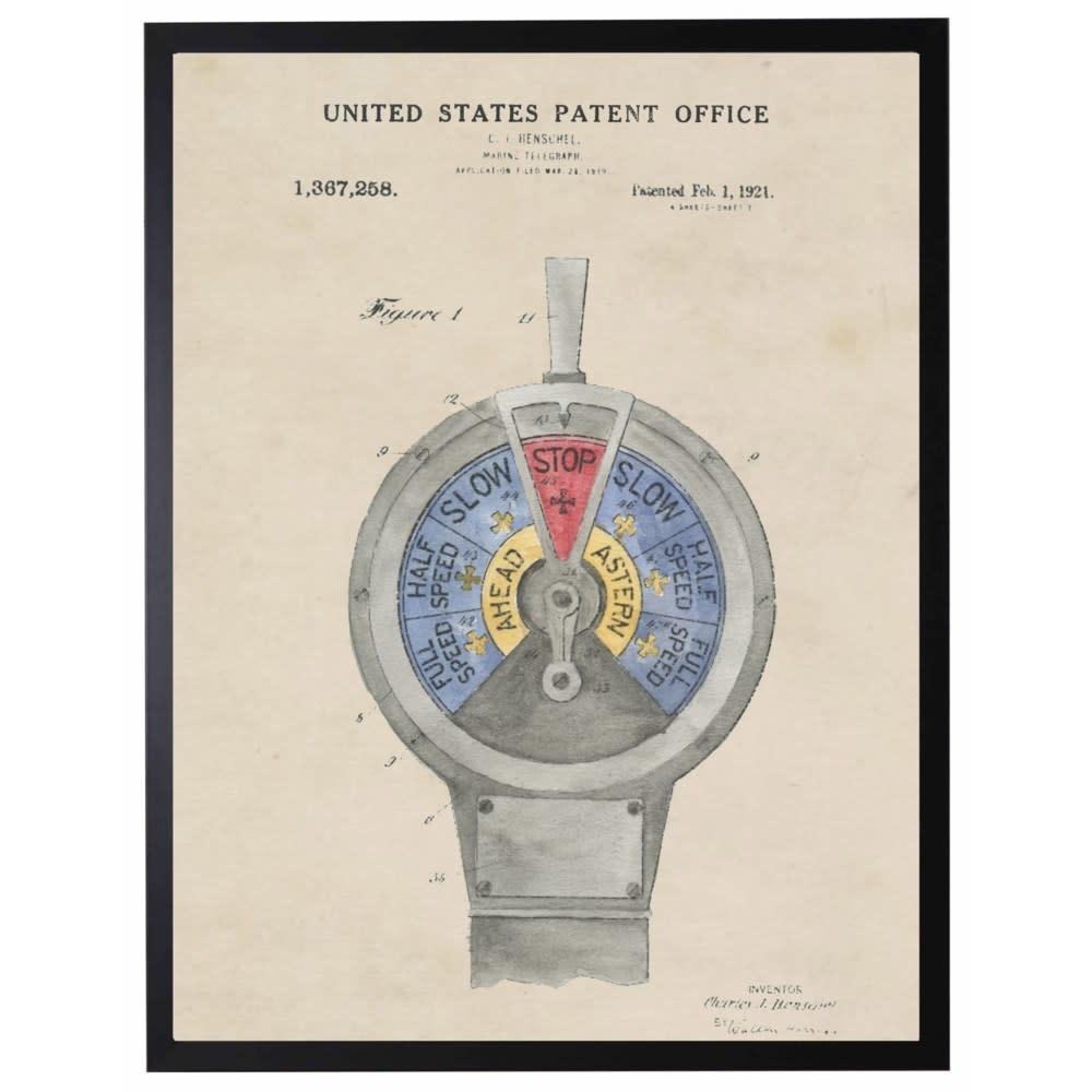 Watercolor Patent Marin Telegraph 22x28