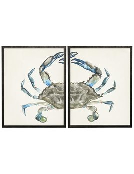 Watercolor Diptych Crab 44x28