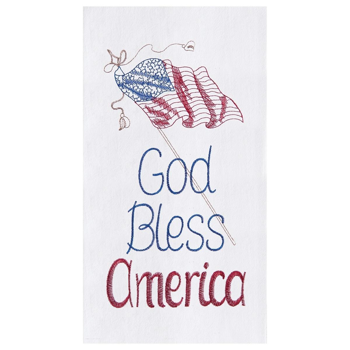 God Bless America Kitchen Towel