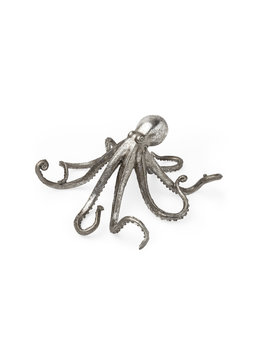Strafford Large Silver Resin Octopus