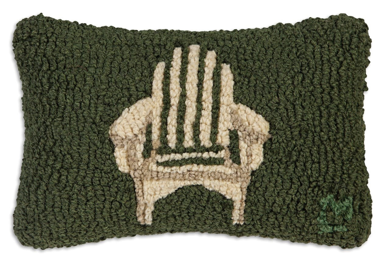 Adirondack Chair 8x12 Hooked Pillow