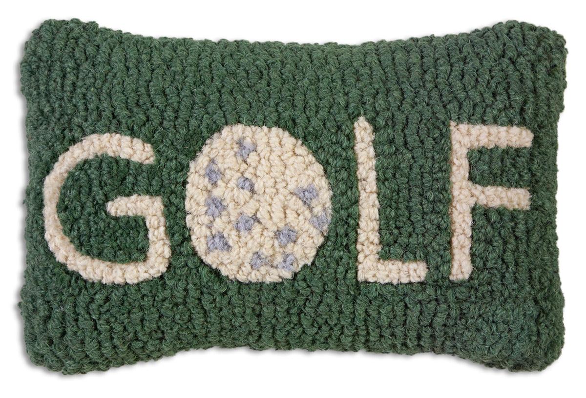 Golf 8x12 Hooked Pillow