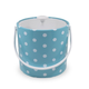 Turquoise w/ White Dots 3 Qt White Handle and Knob