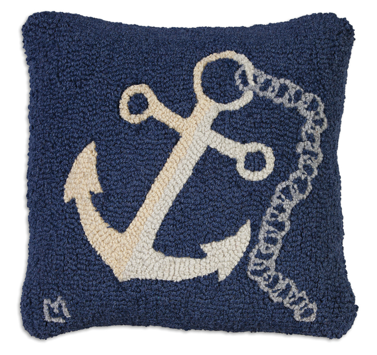 Anchor with Chain 18x18 Hooked Pillow