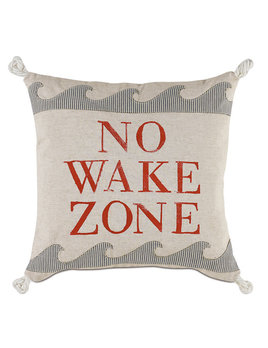 No Wake Zone 18x18 Pillow