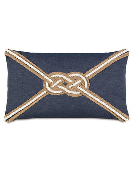 Strauss Denim with Knot 13x22 Pillow