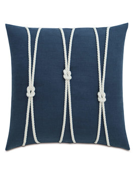 Indigo Yacht Knots 20x20 Pillow