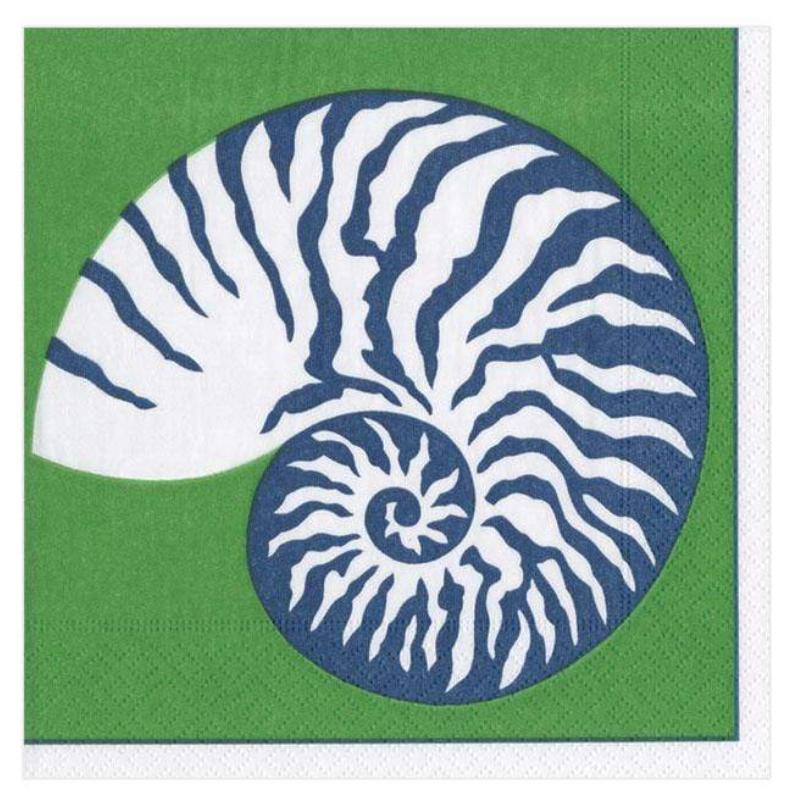 Nautilus Green Cocktail Napkin
