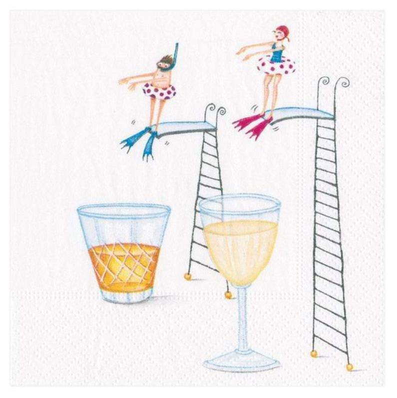 Dive In Cocktail Napkin