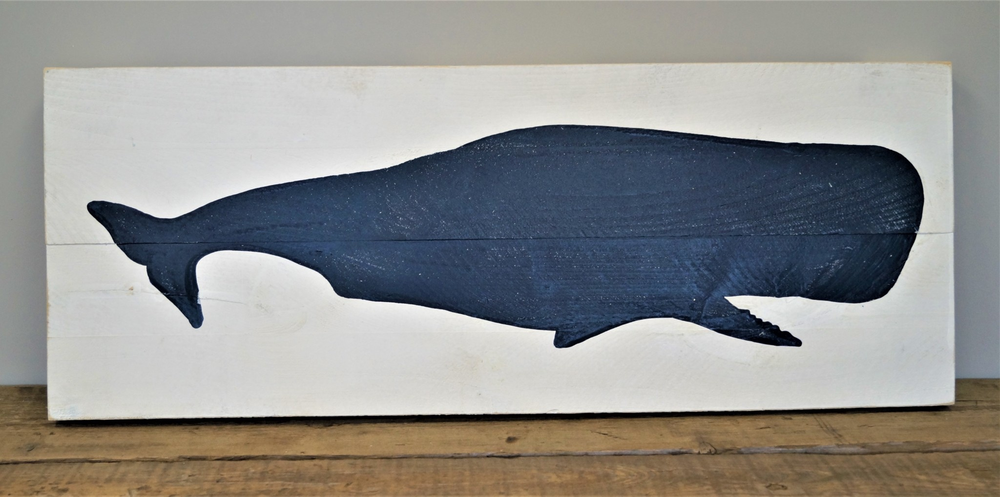 16x40 Whale #2 White Board/IS Image