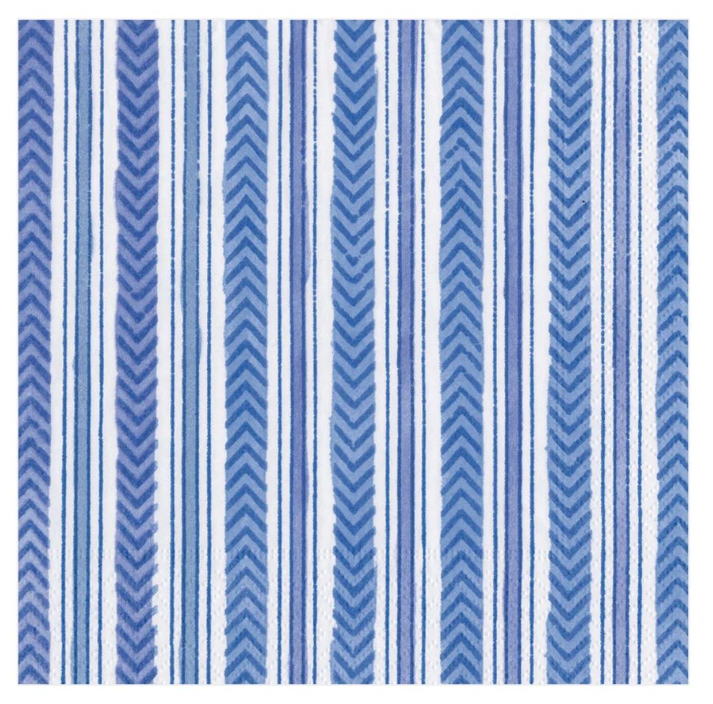 Carmen Stripe Blue Lunch Napkin