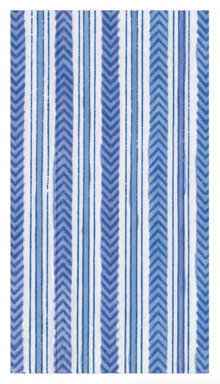 Carmen Stripe Blue Guest Napkin