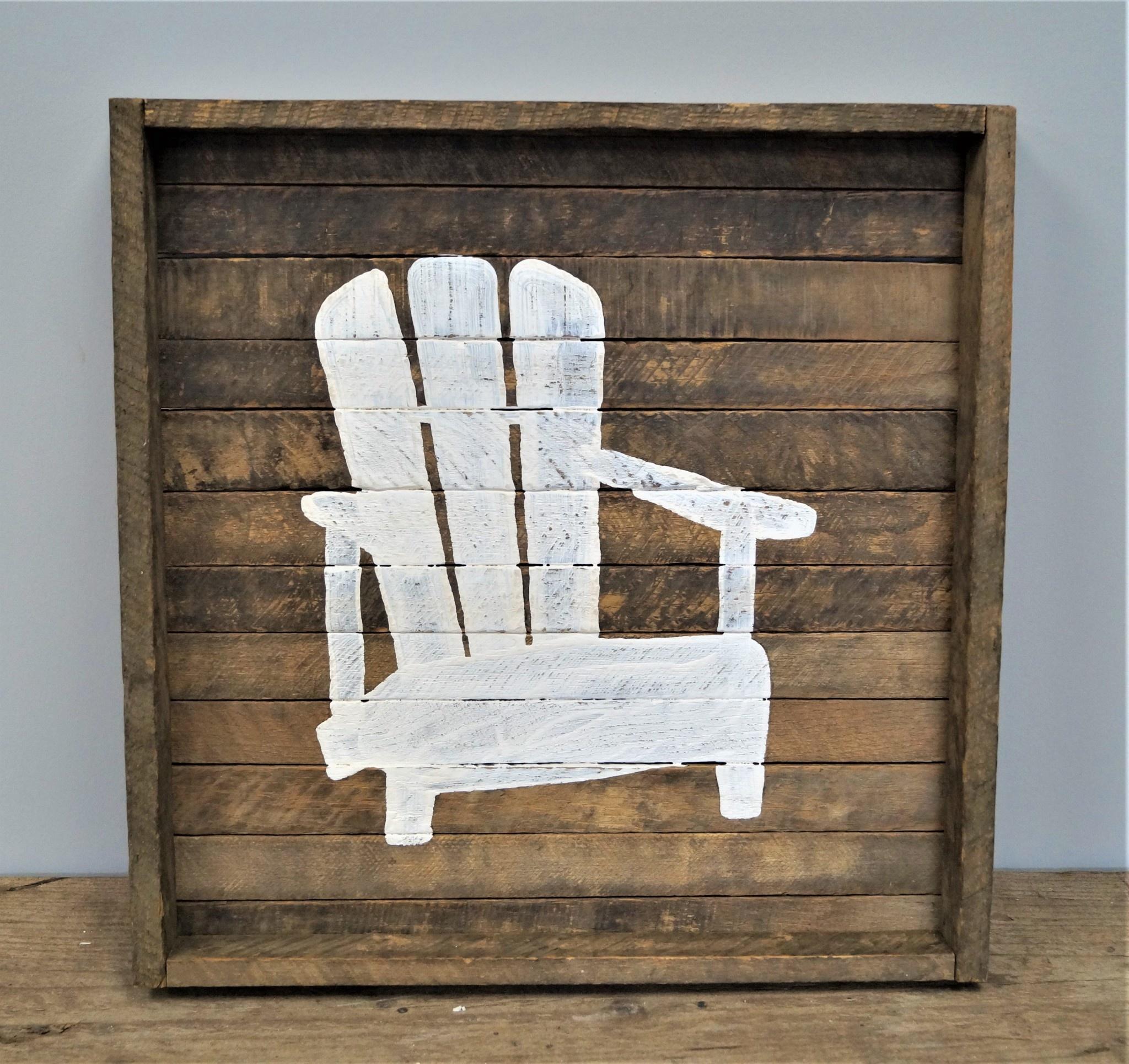 Square Tobacco Tray Chair White
