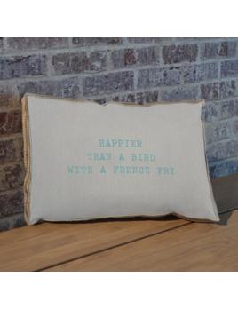 Happier Than a Seagull with a French Fry Pillow  23x15