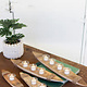 Recycled Wood Boat Tea Light Holders 3 candles