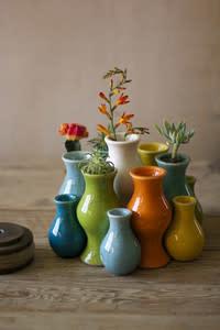 Multi-Colored Ceramic Vase Medium