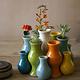 Multi-Colored Ceramic Vase Large