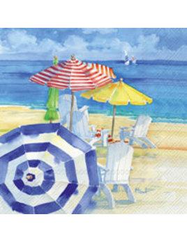 Watercolor Beach Lunch Napkin