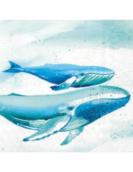 Aquaworld Whale Cocktail Napkin